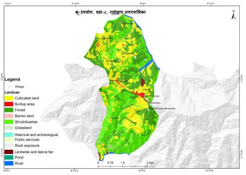 Map of ward no. 8, Ramechhap