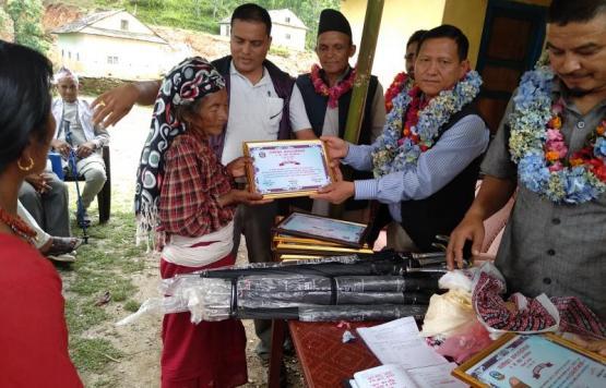 जेष्ठ नागरिक सम्मान कार्यक्रम